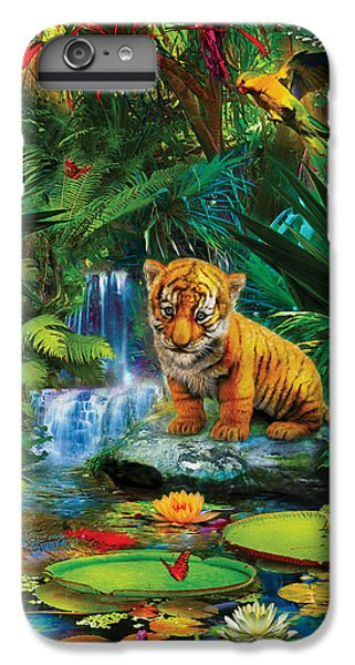 IPhone 6 Plus Case featuring the drawing Little Tiger by Jan Patrik Krasny