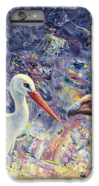 Stork iPhone 6 Plus Case - Living Between Beaks by James W Johnson