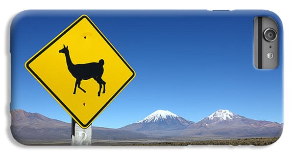 Llamas Crossing Sign IPhone 6 Plus Case by James Brunker