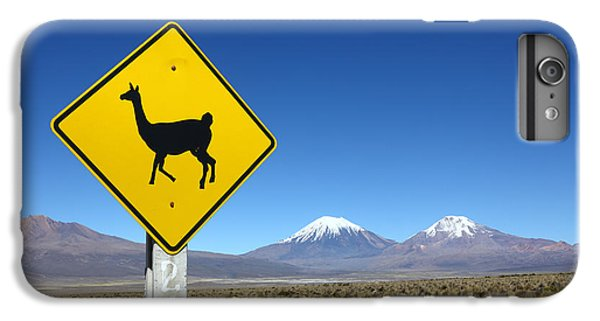 Llamas Crossing Sign IPhone 6 Plus Case by James Brunker
