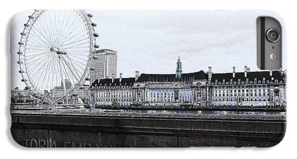 London Eye iPhone 6 Plus Case - London Eye Mono by Jasna Buncic