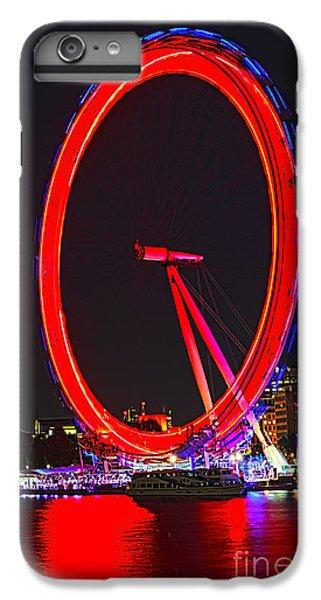 London Eye iPhone 6 Plus Case - London Eye Red by Jasna Buncic