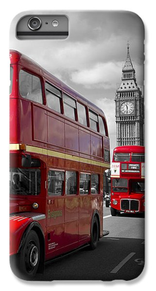 London Red Buses On Westminster Bridge IPhone 6 Plus Case by Melanie Viola