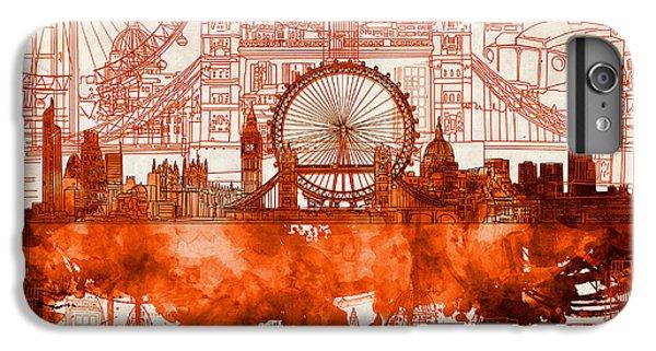 London Eye iPhone 6 Plus Case - London Skyline Old Vintage 2 by Bekim Art