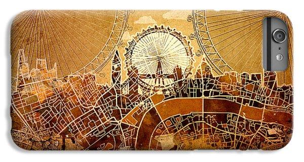 London Eye iPhone 6 Plus Case - London Skyline Old Vintage  by Bekim Art