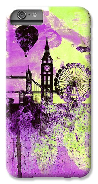 London Skyline Watercolor 1 IPhone 6 Plus Case by Naxart Studio