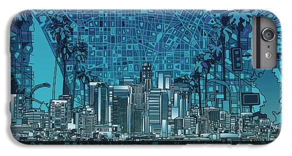 Los Angeles Skyline Abstract 5 IPhone 6 Plus Case