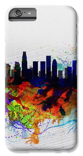 Los Angeles  Watercolor Skyline 2 IPhone 6 Plus Case by Naxart Studio