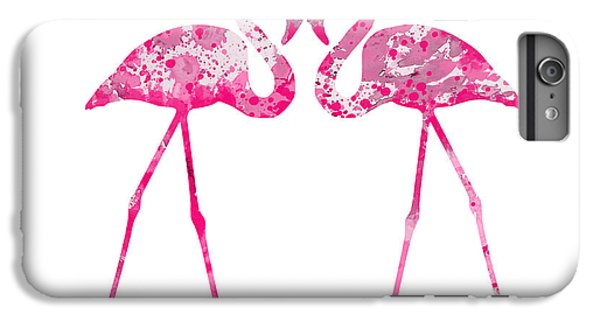 Love Flamingos IPhone 6 Plus Case by Watercolor Girl