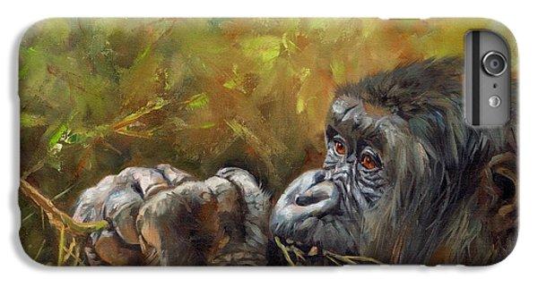 Lowland Gorilla 2 IPhone 6 Plus Case by David Stribbling