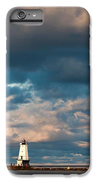 Ludington North Breakwater Lighthouse At Sunrise IPhone 6 Plus Case by Sebastian Musial