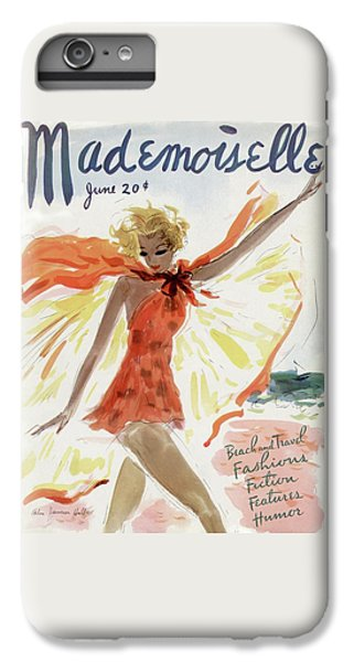Visual iPhone 6 Plus Case - Mademoiselle Cover Featuring A Model At The Beach by Helen Jameson Hall