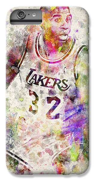 Magic Johnson IPhone 6 Plus Case by Aged Pixel
