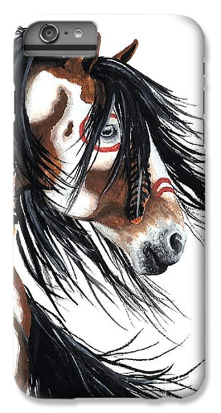 Majestic Pinto Horse IPhone 6 Plus Case by AmyLyn Bihrle