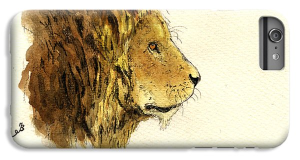 Lion Head iPhone 6 Plus Case - Male Lion Head by Juan  Bosco