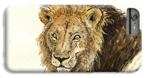 Lion Head iPhone 6 Plus Case - Male Lion by Juan  Bosco