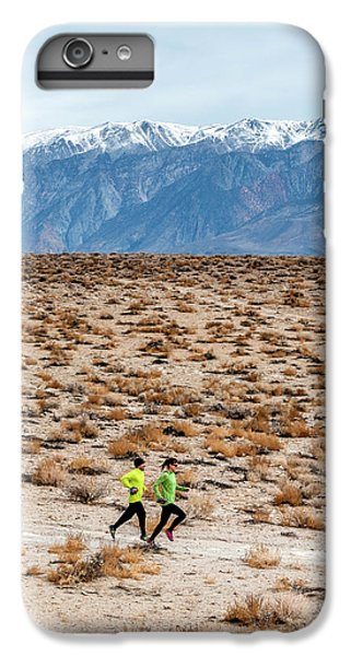 Knit Hat iPhone 6 Plus Case - Man And Woman  Trail Running by Rick Saez