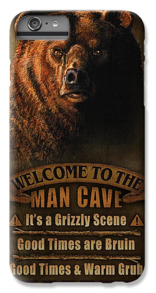 Pheasant iPhone 6 Plus Case - Man Cave Grizzly by JQ Licensing