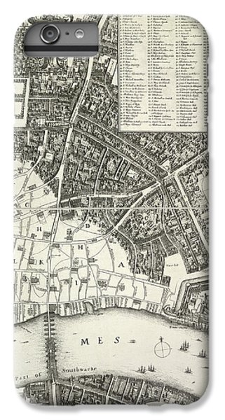 Tower Of London iPhone 6 Plus Case - Map Of London by British Library