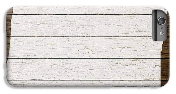 Map Of Oregon State Outline White Distressed Paint On Reclaimed Wood Planks IPhone 6 Plus Case by Design Turnpike