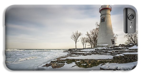 Marblehead Lighthouse Winter IPhone 6 Plus Case by James Dean