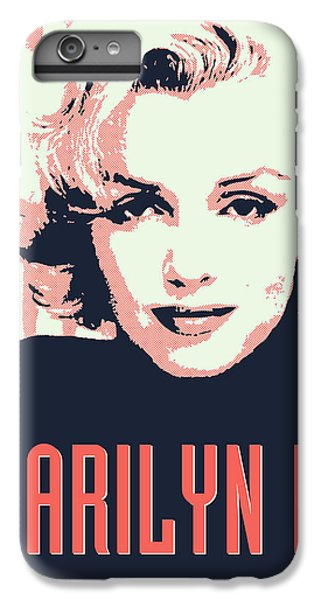 Marilyn M IPhone 6 Plus Case by Chungkong Art