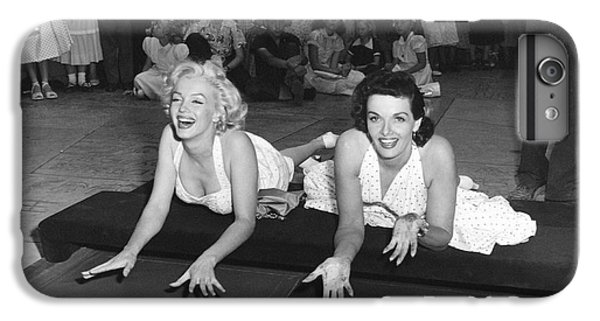 Actors iPhone 6 Plus Case - Marilyn Monroe And Jane Russell by Underwood Archives