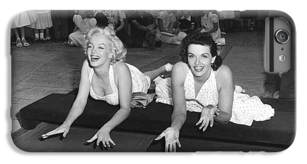 Marilyn Monroe And Jane Russell IPhone 6 Plus Case by Underwood Archives