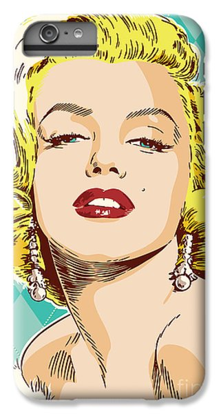 Marilyn Monroe Pop Art IPhone 6 Plus Case by Jim Zahniser