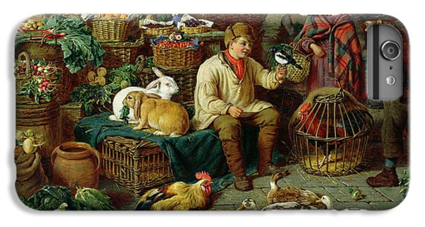 Magpies iPhone 6 Plus Case - Market Scene by Henry Charles Bryant
