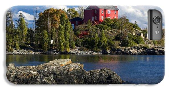 Marquette iPhone 6 Plus Case - Marquette Harbor Light - D003224 by Daniel Dempster
