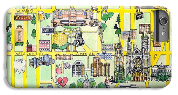 Marquette iPhone 6 Plus Case - Marquette Map by Marquette Map