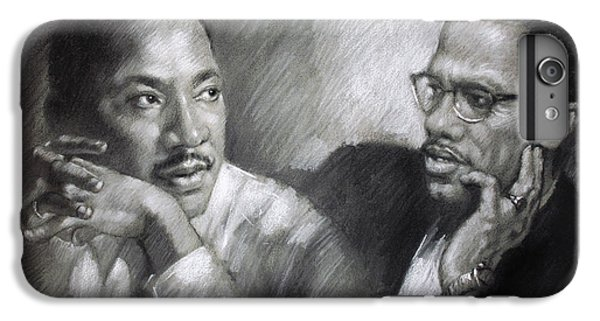 Africa iPhone 6 Plus Case - Martin Luther King Jr And Malcolm X by Ylli Haruni