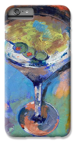 Martini Oil Painting IPhone 6 Plus Case by Michael Creese