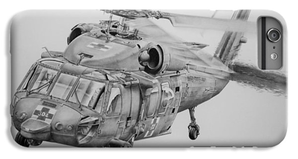 Helicopter iPhone 6 Plus Case - Medevac by James Baldwin Aviation Art