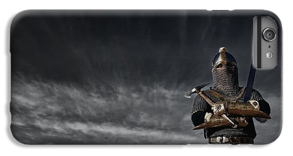 Medieval Knight With Sword And Axe IPhone 6 Plus Case by Holly Martin