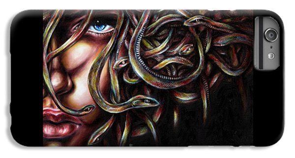 Brown Snake iPhone 6 Plus Case - Medusa No. Two by Hiroko Sakai