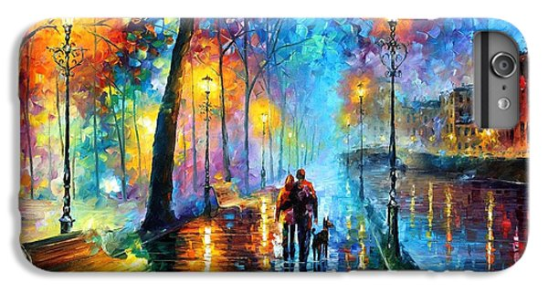 Saxophone iPhone 6 Plus Case - Melody Of The Night - Palette Knife Landscape Oil Painting On Canvas By Leonid Afremov by Leonid Afremov