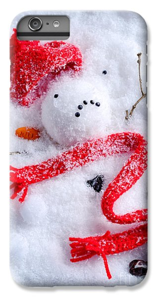 Knit Hat iPhone 6 Plus Case - Melted Snowman by Amanda Elwell