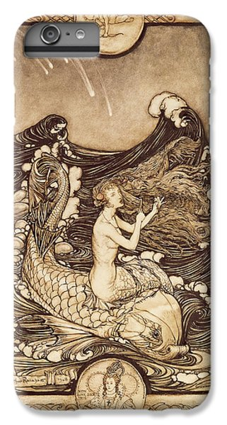 Mermaid And Dolphin From A Midsummer Nights Dream IPhone 6 Plus Case by Arthur Rackham
