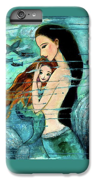 Fairy iPhone 6 Plus Case - Mermaid Mother And Child by Shijun Munns