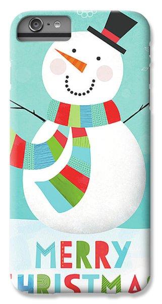 Merry Snowman IIi IPhone 6 Plus Case by Lamai Mccartan