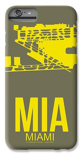 Miami iPhone 6 Plus Case - Mia Miami Airport Poster 1 by Naxart Studio