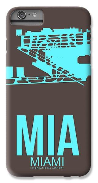 Mia Miami Airport Poster 2 IPhone 6 Plus Case by Naxart Studio