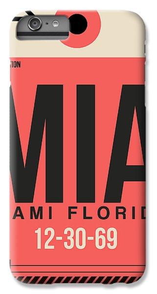 Miami iPhone 6 Plus Case - Miami Airport Poster 3 by Naxart Studio