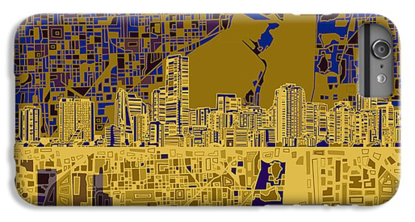 Miami Skyline iPhone 6 Plus Case - Miami Skyline Abstract 3 by Bekim Art