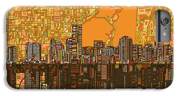 Miami Skyline iPhone 6 Plus Case - Miami Skyline Abstract 5 by Bekim Art