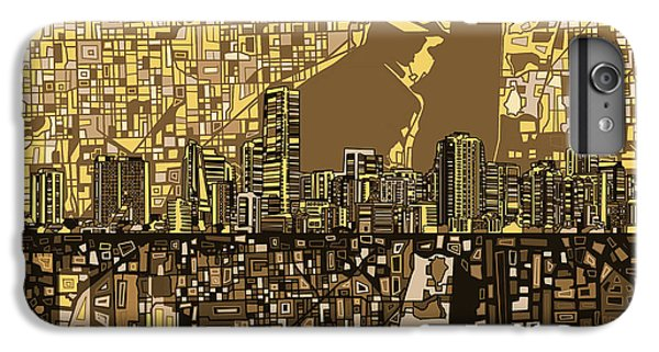 Miami Skyline iPhone 6 Plus Case - Miami Skyline Abstract 6 by Bekim Art