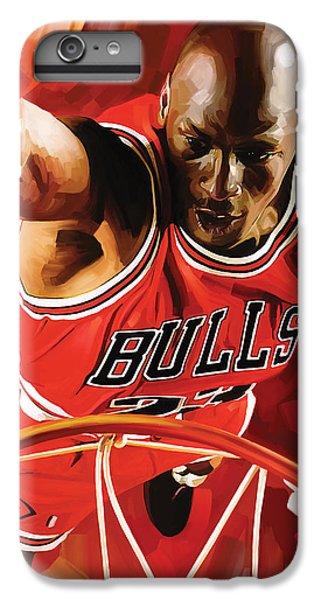Michael Jordan Artwork 3 IPhone 6 Plus Case by Sheraz A