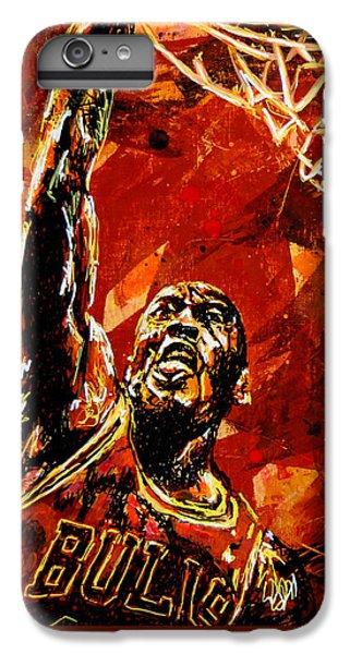 Wizard iPhone 6 Plus Case - Michael Jordan by Maria Arango